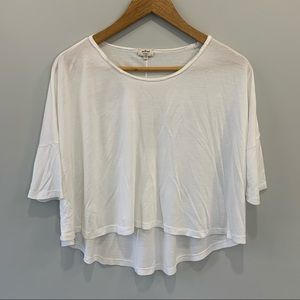 3/$20 Wilfred Cropped White Tee